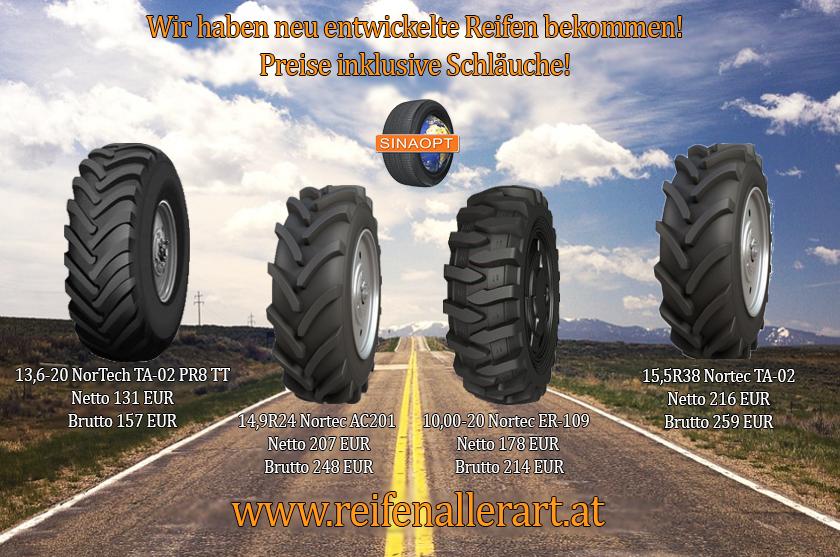 Wir haben neu entwickelte Reifen bekommen!