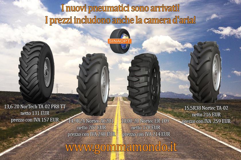 I nuovi pneumatici sono arrivati!